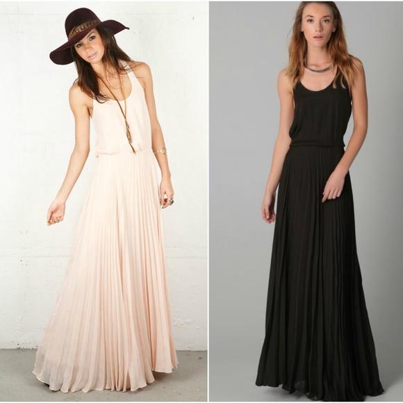 bf716d0b9c PARKER Black Silk Pleated Maxi Dress. M_5a973367c9fcdf0547606bf6